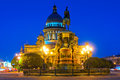Famous cathedral of  Isaac in St. Petersburg night shooting Royalty Free Stock Image