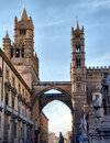 Famous cathedral of palermo in sicily italy Stock Photography