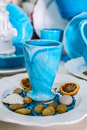 Famous ceramics in grottaglie hand decorated ceramic pots south of italy Stock Image