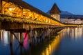 Famous Chapel Bridge, Lucerne, Switzerland