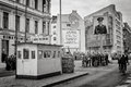 Famous checkpoint charlie friedrichstrasse berlin germany Stock Photo