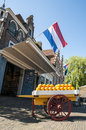 The famous cheese market of Edam Stock Photography
