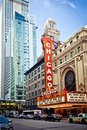 The famous Chicago Theater in Chicago, Illinois. Royalty Free Stock Photography