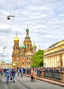 Famous church of the Savior on Spilled Blood in Saint Petersburg