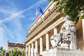 The famous court of appeal with statue in aix en provence france Royalty Free Stock Image