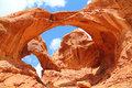 Famous Double Arch in Moab Utah Royalty Free Stock Photo