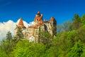 The famous dracula castle bran transylvania romania and summer landscape Royalty Free Stock Photo