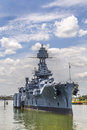 The famous dreadnought battleship texas Stock Image