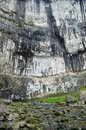 Rock climbers at Malham Cove Yorkshire Dales National Park Royalty Free Stock Photo
