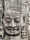 Famous face of Bayon Temple Stock Photography