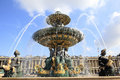 Fountain Place de la Concorde, Paris France Royalty Free Stock Photo