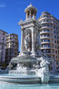 Famous fountain in place des jacobins lyon Stock Photos