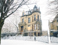 The famous Franklin Castle in Cleveland Ohio during winter Royalty Free Stock Photo