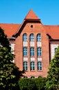 Famous Gastronomy School building of Grudziadz Royalty Free Stock Photo