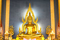 The famous golden buddha image in wat benchamabophit marble temple bangkok thailand Stock Photo