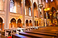 Famous gothic markt kirche from inside the in wiesbaden a brick building in neo style Royalty Free Stock Photo