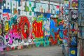 Famous grafitti street in ghent belgium march the only where it s allowed to spray paint Royalty Free Stock Photography