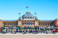 Famous Grand Hotel Amrath Kurhaus at  Scheveningen beach, Hague, Netherlands Royalty Free Stock Photo