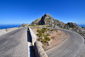 Famous hairpin curve on the road to the village of Sa Calobra Royalty Free Stock Photo