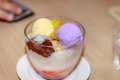 Famous halo halo dessert Royalty Free Stock Photo