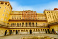 The famous hawa mahal or palace of the winds india Stock Photos