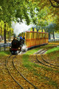 Famous and historic Liliputbahn in the Prater Park Royalty Free Stock Photography