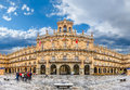 Famous historic Plaza Mayor in Salamanca, Castilla y Leon, Spain Royalty Free Stock Photo