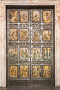 The famous holy door at st peter s basilica in vatican rome italy Royalty Free Stock Images