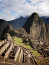 Famous Inca city Machu Picchu Stock Photography