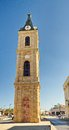 The famous jaffa clock tower old in tel aviv israel Royalty Free Stock Photo