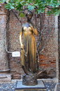 Famous Juliet statue in Verona, frontal, Italy Royalty Free Stock Photo