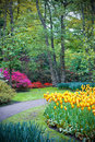 Famous Keukenhof garden Stock Photo