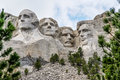Famous Landmark and Mountain Sculpture - Mount Rushmore Royalty Free Stock Photo