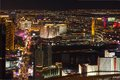 Famous las vegas strip las vegas boulevard night view towards south end strip many luxury casino resorts heart las vegas such as Royalty Free Stock Photo