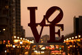 Famous Love sign in Philadelphia Stock Image