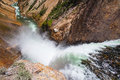 The famous lower falls in yellowstone national park on river wyoming Stock Photo