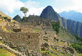 The famous Machu Picchu in Peru Royalty Free Stock Photo