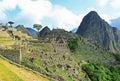 The famous Machu Picchu in Peru Royalty Free Stock Photo