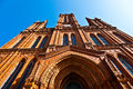 Famous markt kirche in wiesbaden a brick building neo gothic style Royalty Free Stock Photography