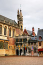 Famous medieval burg square bruges brugge belgium square city hall basilica holy blood located Royalty Free Stock Photography