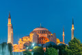 The famous mosque in turkish city of istanbul Royalty Free Stock Photo