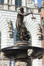 Famous neptune fountain in gdansk poland made in roman god Royalty Free Stock Images