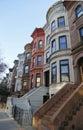 Famous New York City brownstones in Prospect Heights neighborhood in Brooklyn