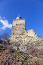 Famous old castle falkenstein under blue sky Royalty Free Stock Photography