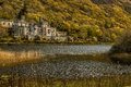 Famous Old Kylemore Abbey in Connemara Country Galway, Ireland Royalty Free Stock Photo