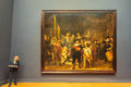 The famous painting Night Watch by Rembrandt at the Rijksmuseum Royalty Free Stock Photo