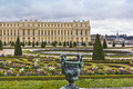 Famous palace Versailles with beautiful gardens Royalty Free Stock Photo