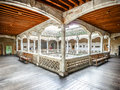 Famous Patio de la Casa de las Conchas, Salamanca, Spain Royalty Free Stock Photo