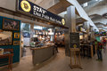 Famous pub inside of cologne bonn airport germany aug and bar the international cgn august in germany Stock Images