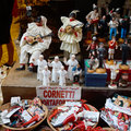 Famous puppets by naples italy october san gregorio armeno in is the way the world of the crib the stalls also expose statues of Stock Photo